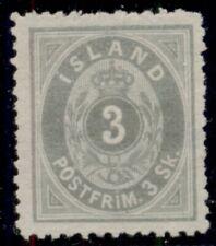 ICELAND #5 (5) 3sk gray, unused no gum, VF, Scott $475.00