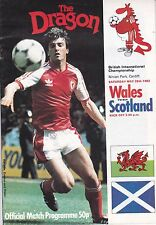 WALES V SCOTLAND ~ 28 MAY 1983 ~ SIGNED BY 4 PLAYERS