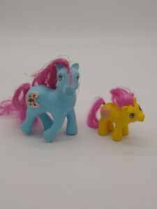 My Little Pony 1987 Blue Moon Jewel Tinsel Hair 1989 Yellow Baby Flickr LOT of 2
