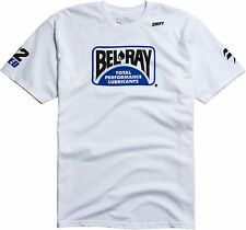 New Mens Fox Racing Shift Reed Bel Ray Tee White S