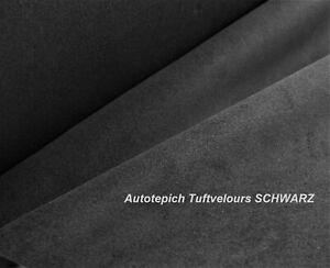 Autoteppich Schwarz Tuftvelours Leicht Meterware Odtimer Wohnmobil Tuning