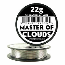 50 ft - 22 Gauge AWG A1 Kanthal Round Wire 0.64mm Resistance A-1 22g GA 50'