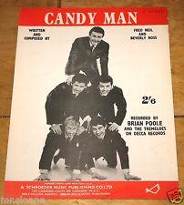 BRIAN MOORE CANDY MAN UK VINTAGE SONG SHEET MUSIC SHEET 1961
