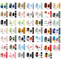 Nail Wraps Stickers - Full Self Adhesive Polish Foils Decoration Art Decor bk