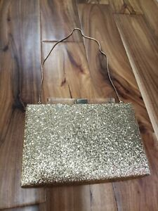Kate Spade Gold Glitter Emanuelle Candy Darling Evening Clutch Bag wedding