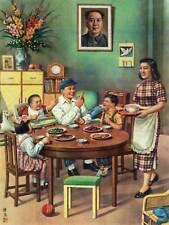Propaganda della Cina COMUNISTA MAO farina Famiglia Poster Art Print 30x40 cm bb2304b