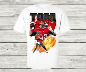 Tom Brady Tampa Bay Buccaneers NFL Quarterback T Shirt Gildan 100% Cotton