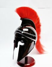 Armor Greek Corinthian Helmet With-Red Plume Helmet Replica With Stand