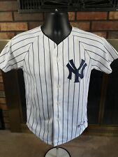 8815b60c075 Jason Giambi  25 New York Yankees MLB Baseball Jersey Youth Medium Pinstripe