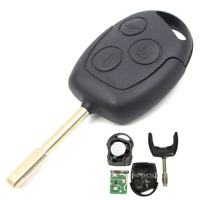 Uncut Remote Key Fob 3 Button 433Mhz 4D60 Chip for Ford Focus Mondeo Fiesta KA