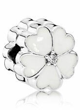 original Pandora Clip Silber 925 Stopper 791822EN12 Weiße Primel  NEU