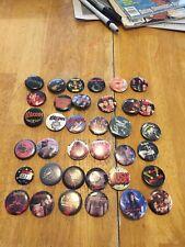 37 Heavy Metal/Hard Rock Pinback Buttons Lot Black Sabbath Judas Priest Rush
