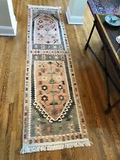 Brand New Turkish Kilim Design Runner Rug. Size 2.6' x 10.2'. Made in Turkey.