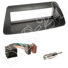 Fiat Brava Bravo ISO Adapter+Radio DIN Blende schwarz+Antenne Stecker Einbauset