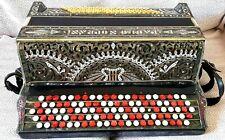 Stylish 1930''s 'Paolo Soprani' Button Italian Accordion In Original Case