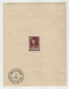 Belgium, Postage Stamp, #B106 Used Sheet, 1931, JFZ