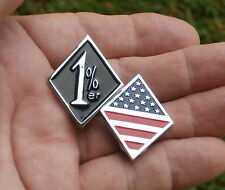 USA Flag Vest Pin Badge Biker Lapel Emblem Suits 1 Er Harley-Davidson B