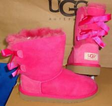 Ugg Australia Bailey Bow Cerise Pink Suede Boots Toddler Size Us 7 Nib # 3280 T