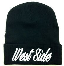 NEW WEST SIDE CUFFED BEANIE SKULL CAP HIP HOP HAT BLACK