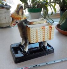 VTG Japan Donkey Cigarette & Match Holder, Toothpick, Planter or Dresser Caddy