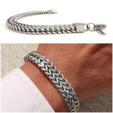 Bracciale uomo a catena acciaio intrecciato braccialetto da inox braccialetto