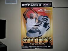 *Rare* 2005 LeBRON JAMES NIKE AIR ZOOM 2 Vinyl Poster CHAMPS Sports- 2016 CHAMPS