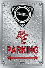 Metal Parking Sign  Rotary Mazda Style RE-OLD#13 - Checkerplate Look