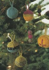 Knitting Pattern ~ Christmas Knitted & Felted Ornaments & Garland ~ Instructions