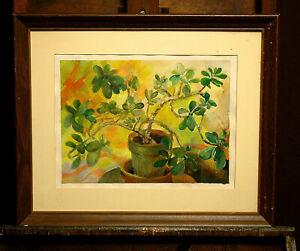"""Elizabeth Case, """"Still life"""" original watercolor"""