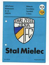 Orig.PRG   UEFA Cup 75/76   CARL ZEISS JENA - STAL MIELEC  !!  SELTEN