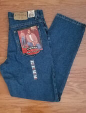 Men's Lee Riders Relaxed Tapered Leg Denim Blue Jeans Size 32x30