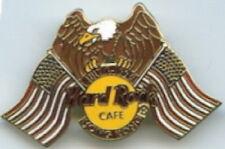 Hard Rock Cafe HONG KONG 1995 July 4th PIN Eagle USA Flags - HRC Catalog #3051