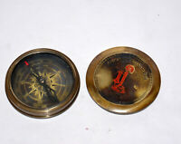 Antique vintage brass compass maritime marine poem compass good decor gift item