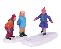 Lemax 2004 Hopscotch Marelle Set Of 2 Village Collection #42908 Retired Figurine
