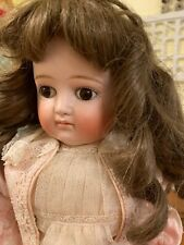 Antique German Bisque Kestner Closed Mouth Turned Shoulder Head Brown Eyed Doll.