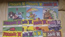 Mosaik Abrafaxe Jahrgang 1987 - 1990, 13 Einzelhefte Ost Comic
