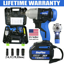 1/2'' Impact Wrench Cordless Battery 21V 6000mAh Craftsman High Torque LED Tool