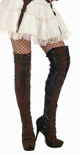 Brown Steampunk Thigh High Boot Covers