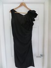 Teatro Black Cocktail Dress with Rose Embellishment Size 16 *Worn Once*