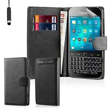 32nd Book Style Wallet PU Leather Flip Case Cover for BlackBerry Classic Q20 -