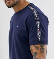 Tommy Hilfiger Men's Lounge Tape Ringer T-Shirt In Navy