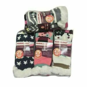 Ladies Sherpa Fleece Lining Thermal Socks Soft Warm Bed Socks 4.7 TOG SIZE 4-7