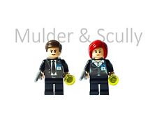 Mulder & Scully custom lego minifigures. New, made with lego parts. The X-Files.
