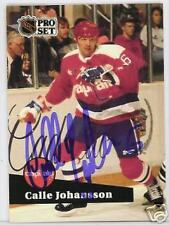 CALLE JOHANSSON WASHINGTON CAPITALS 1992 PROSET AUTOGRAPHED HOCKEY CARD JSA