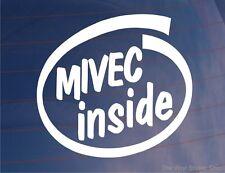 MIVEC INSIDE Car/Window/Bumper Vinyl Sticker/Decal - Ideal For Mitsubishi Lancer