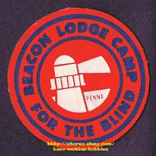 LMH PATCH Badge BEACON LODGE CAMP Summer Activities BLIND Hearing Sight Impaired