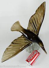 Signed Large Alfredo Barbini Murano Original Art Glass Bird in Flight