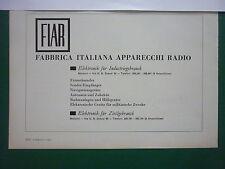 4/1963 PUB FIAR ITALIA MILANO RADIO CAMERA TELEVISION RADAR ORIGINAL GERMAN AD