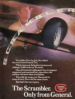 1971 Print Ad of General Tire Scrambler 60 & 70 White Letter on Pontiac Trans Am