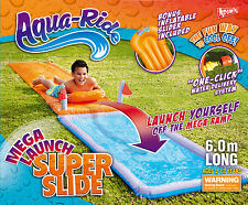 NEW Aqua Ride Mega Launch Super Water Slide 6m Long Includes 1 Inflatable Slider